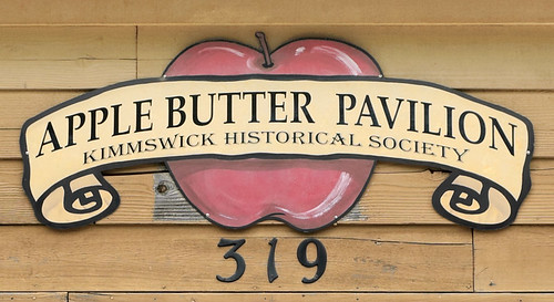 Apple Butter Pavilion sign, in Kimmswick, Missouri, USA