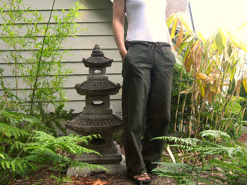 olive green drawstring pants