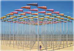Beaufort 03: Le Vent souffle o il veut - Beach Art in De Haan Belgium (Batikart) Tags: ocean travel blue light red sea vacation sky holiday color colour green beach nature yellow strand season landscape geotagged interestingness spring sand meer europa europe belgium wind urlaub natur stripe may himmel explore northsea blau landschaft fp frontpage farbe nordsee 500faves 2009 breathtaking eyecandy vacanze reise frhling flanders streifen belgien dehaan windsock danielburen frhjahr windbag wenduine canonpowershota610 10000views 100faves i500 explorefrontpage 200faves windsack viewonblack 300faves 1000faves 400faves 600faves batikart 900faves 700faves westflandern 800faves beaufort03 leventsouffleoilveut