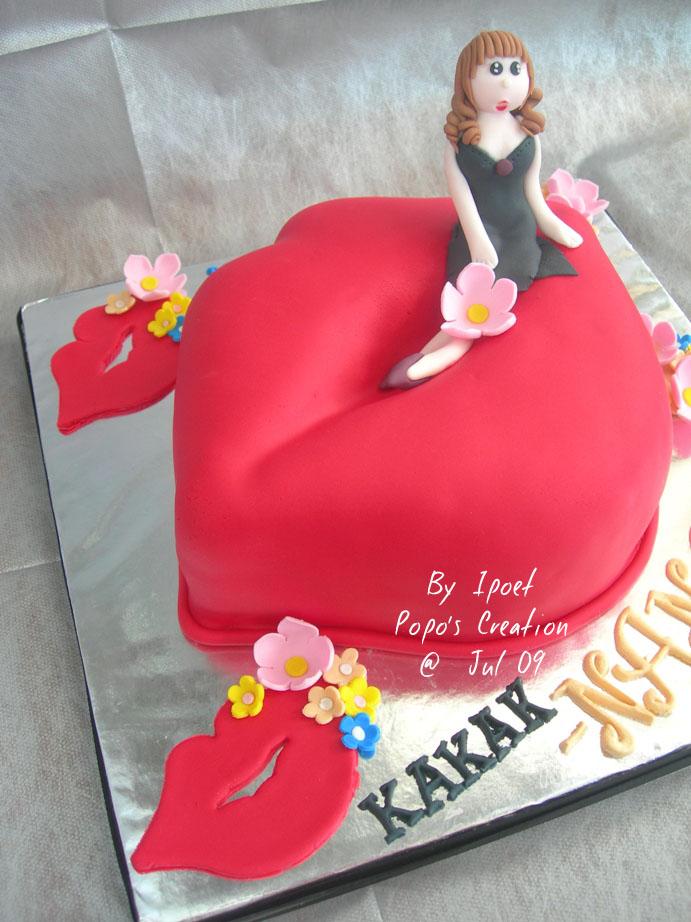 Sexy Lips Cake