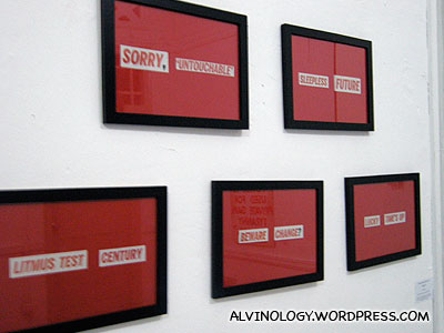 Quotes made from newspapers clippings