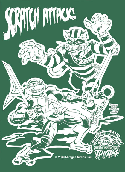 Jake Black Limited Edition Benefit T-Shirt , Featuring artwork by Fernando Leon Gonzalez and Ryan Brown  (( 2009 ))