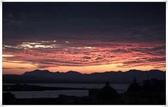 And the heaven burns (JaViT) Tags: sardegna sunset italy sun sol clouds atardecer soleil heaven italia tramonto nuvole cielo nubes estanque sole cagliari sardinien cerdea stagno casteddu karalis javit
