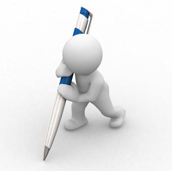 escrever conteúdo