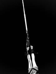 and jump (KarolusLinus) Tags: white holiday black female vakantie blackwhite spring zwartwit belgi zee rope belgian zwart wit vrouw touw depanne koksijde springen strandpark andjump benjijump xbeach benjispringen
