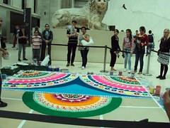 Rangoli at British Museum 2009 (janakchauhan) Tags: britishmuseum hsbc rangoli janak