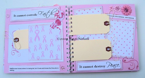 """Cancer is so limited"" - Hope Scrapbook Album"