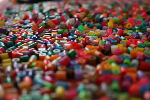 a sea of melty beads*