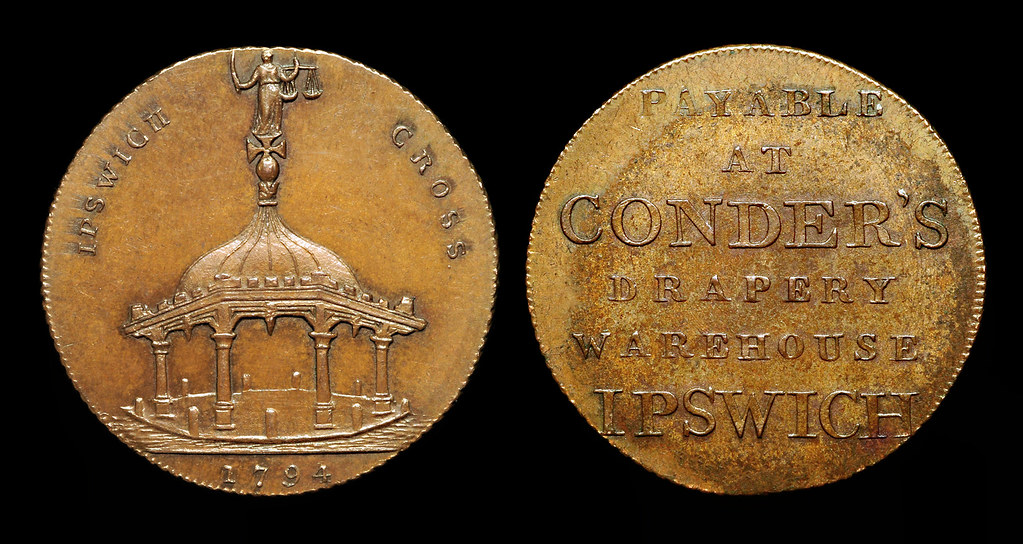 Probably Uncirculated 1794 Conder Token, from James Conder's Drapery Shoppe in Ipswich, in Suffolk UK