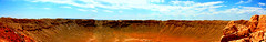 Meteor Crater - edited version (Harmeet ) Tags: california autumn sunset summer arizona panorama usa sun color art monument colors beauty grass yellow rock topv2222 america sunrise canon wonderful poster spectacular landscape mexico golden countryside utah topf75 bravo scenery perfect holidays rocks colorful village desert quality postcard topv1111 dream panoramas scene crater valley colourful topv11111 vacations 2009 meteor beautful artphoto barringer topf400 blueribbonwinner topf65 topv33333 topv22222 the4elements 450d imagekind platinumphoto aplusphoto infinestyle diamondclassphotographer theunforgettablepictures goldstaraward