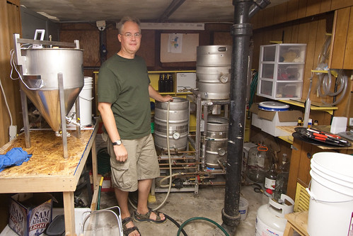 Byron with His Brew Setup