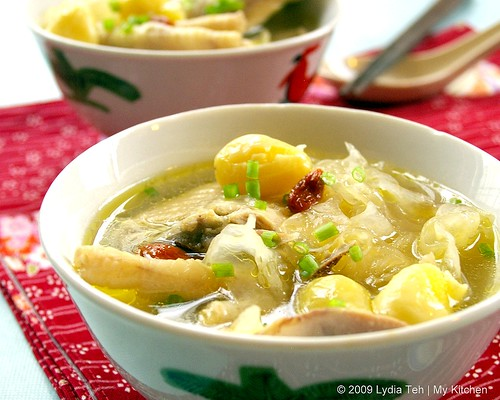 Ginko Nut Chicken Soup