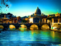 San Pietro (*Sefora*) Tags: bridge sky italy panorama painterly rome color roma art water photoshop river catchycolors painting landscape effects big artwork agua aqua eau italia arte blu top vibrant sony digitalart quadro best fave chiesa cielo tevere sharing fractal faves effect paesaggi soe paesaggio topaz archi effetti dipinto tibre effetto supershot abigfave anawesomeshot flickraward diamondclassphotographer flickrdiamond bellitalia dscw80 dynamicphoto abigafe fractalius spiritofphotography colourvisions sharingart flickrunitedaward dynamicphot effetts