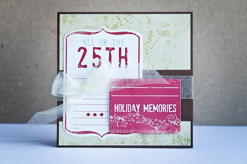 holiday memories card