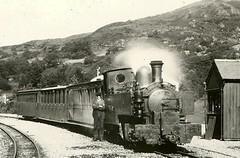 Russell heading South (Boxbrownie3) Tags: old heritage history wales vintage 1930s rail trains steam slate railways beddgelert northwales welshhighlandrailway narrowgaugerailways hunslet