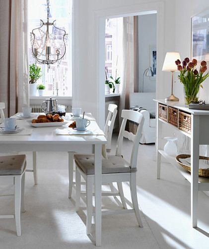 Dining Room and Kitchen Designs - white, Dining Room, Kitchen, Interior design