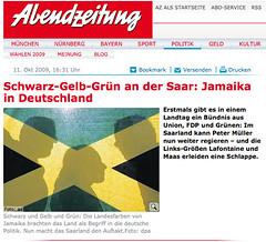 Jamaika im Online-Journalismus (Abendzeitung)
