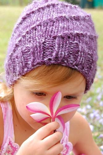 smelling flower
