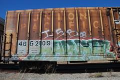 Harsh (huntingtherare) Tags: train graffiti boxcar freight harsh bmb isb