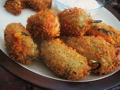 Garlic Stuffed Jalapeno Poppers