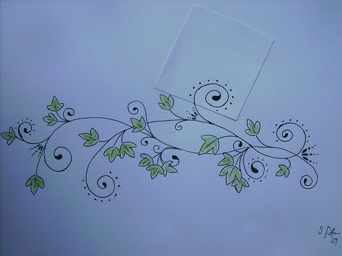 Newest photo →; Ivy swirl tattoo design (revised) to go on left hip