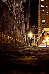 """narrow streets of cobblestone, 'neath the halo of a street lamp."" (red.dahlia) Tags: seattle pikeplacemarket lightroom simonandgarfunkel thesoundofsilence musicallychallenged"