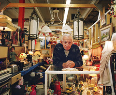 A stranger, Flea market (Benoit.P) Tags: portrait canada man color art mamiya film montral benoit mtl quebec kodak concordia 6x7 nocrop portra collector 400iso paille rb67 400vc benoitp