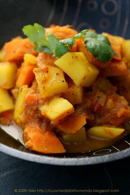 Curry di zucca e patate