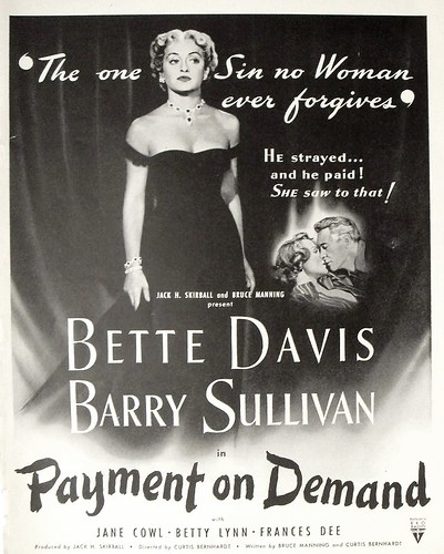 1940s bette davis payment on demand movie poster advertisement full page life magazine vintage graphics