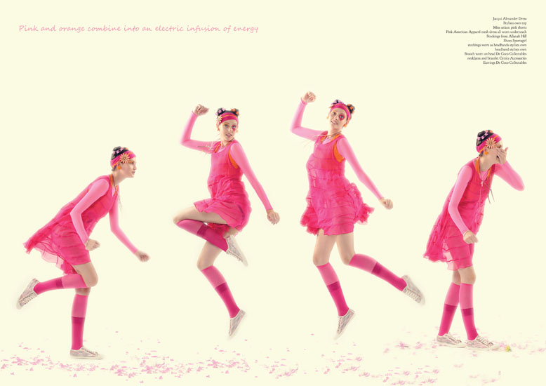 Editorial Fashion Photography Sydney, Studio Photography,Pink! I Can Sing A Rainbow p10-11