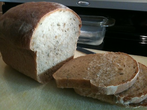 Whole Wheat Rosemary Olive Oil Bread