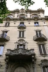 Torino, Via Duchessa Jolanda, Jugendstilhaus (Art nouveau house) (HEN-Magonza) Tags: italien italy torino italia piemonte artnouveau artdeco turin piedmont jugendstil piemont stileliberty viaduchessajolanda