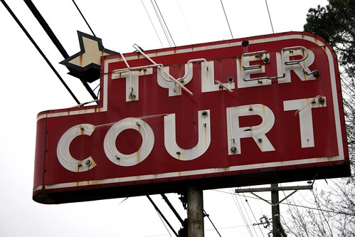 tyler court neon sign