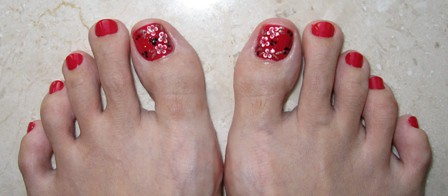 Lunar New Year Toes