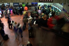 Metro crowd (melannen) Tags: subway dc washington metro inauguration09