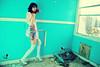 Toothfairy (NatVon Photography) Tags: sanfrancisco city girl female island wings model mare dancer teen fairy heels rave inside gogo brunette tutu asbestos kandi nikond80 abandonedhousetreasure