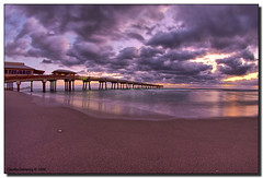 Early Morning (Fraggle Red) Tags: ocean orange beach water clouds dawn sand surf raw purple florida hollywood northbeach inspire atlanticocean soe daniabeach beautysecret tonemapped defished bej shieldofexcellence daniabeachpier anawesomeshot circularfisheye sigma8mmf35exdg browardco betterthangood