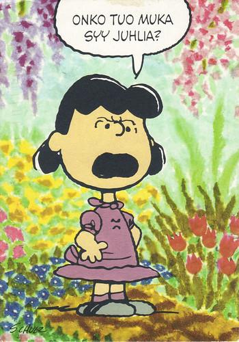 Peanuts' Lucy Postcard