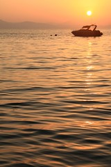 A Krabi Sunrise (HellonEarth2006) Tags: sea orange water sunrise thailand boat phuket krabi phangngabay