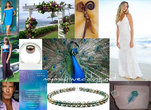 This is of course the Maui version of a peacock wedding