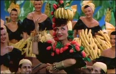 Carmen Miranda sings The Lady in the Tutti Frutti Hat.