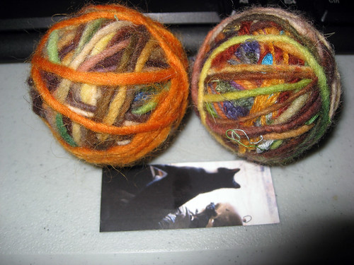 cat toys felted balls