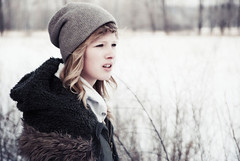 Porcelain (aReasontoHope) Tags: trees winter portrait white snow girl hat minnesota contrast outdoors hope friend bright exploring blonde squint twigs porcelain garth nylander areasontohope