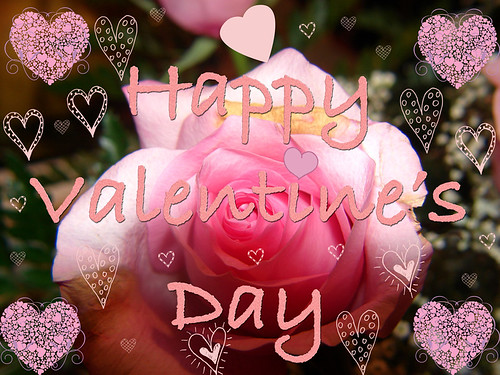 Happy-Rose-Valentine's-Day-with-hearts