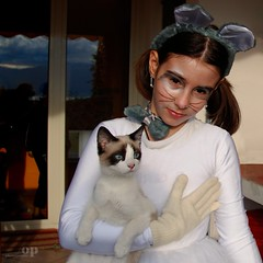 My Beloved Kittens (Osvaldo_Zoom) Tags: carnival two portrait girl beauty costume kitten mask beloved friendlychallenge explored80content