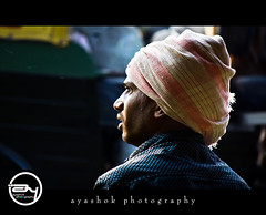 Urban...... Turban (ayashok photography) Tags: morning india man guy lights nikon market indian bangalore turban madivala nikonstunninggallery nikond40 ayashok nikor55200mm