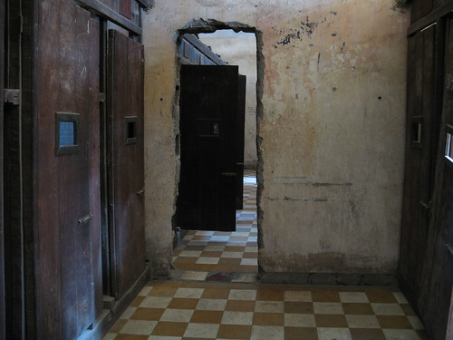 Upstairs at Tuol Sleng