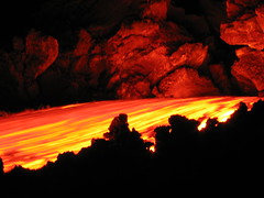 and it flows and glows.... (Thomas Reichart ) Tags: volcano lava etna tna
