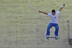 Airboarding in Astoria (jkeenan501) Tags: oregon flying skateboarding astoria airtime boarding