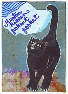 Mustan kissan paksut posket!